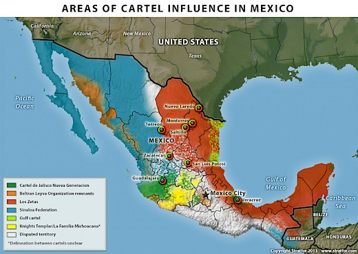 2013 Cartel Influence in Mexico