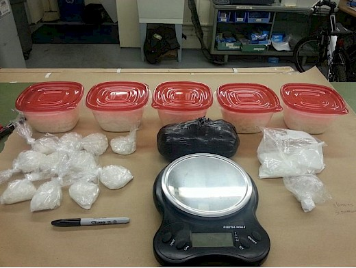 Meth, Cocaine, & Heroin seized from retired Clackamas County